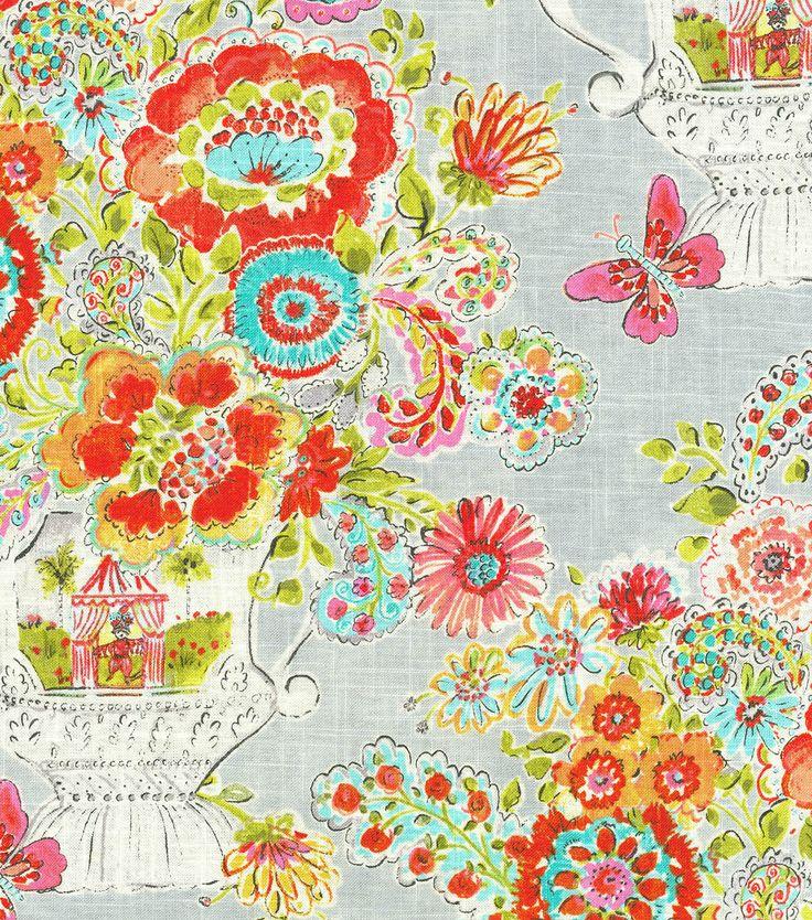 Dena Home Upholstery Fabric-Flower Love Sherbert