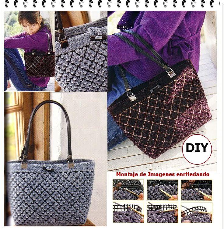 Como hacer Bolsos con Telares de Rejillas | en-rHed-ando: Crochet Bags, Net Handbags, Telares De, Handbags Looms, Diy Bags, Bolsos Handbags, Bags Purses, Con Telares, Handbags Ideas