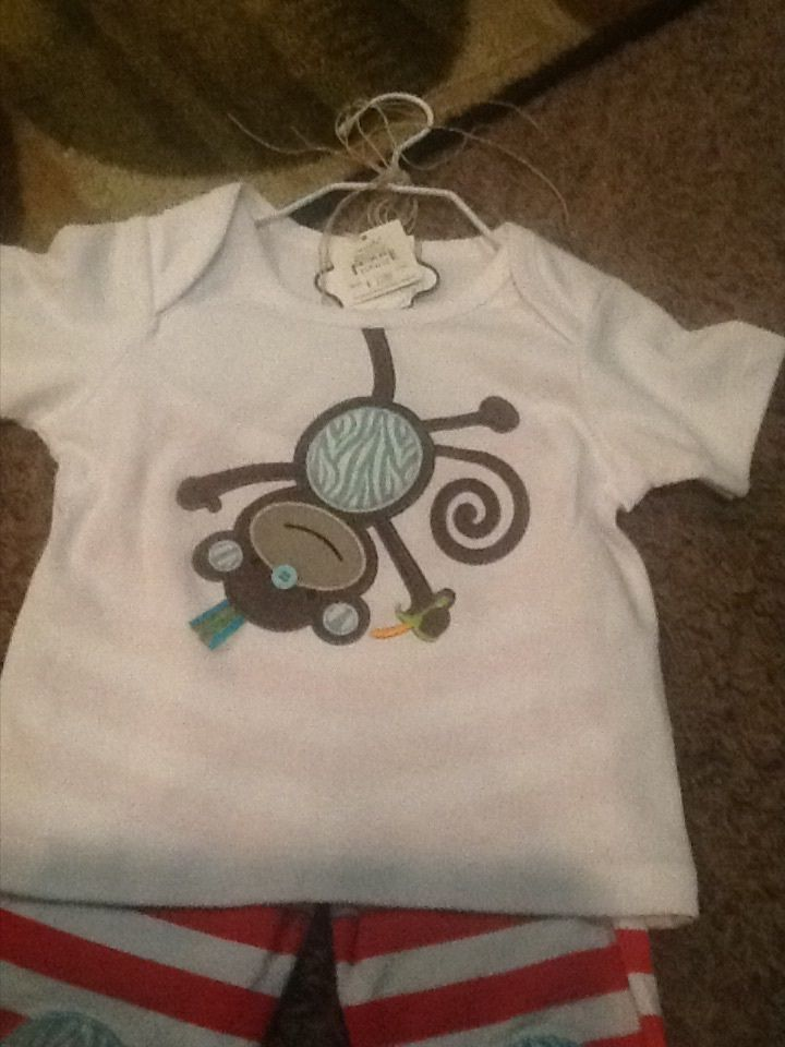 Girl or Boy Mud Pie Outfit with Monkey New Size 12 18 Months Adorable | eBay
