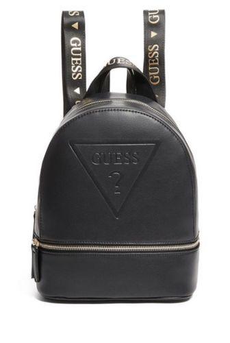 f747897119c Guess Factory Women s Black Gym Embossed Logo Backpack Bag ...