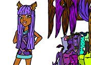 Monster High Art: Vestir a Clawdeen Wolf