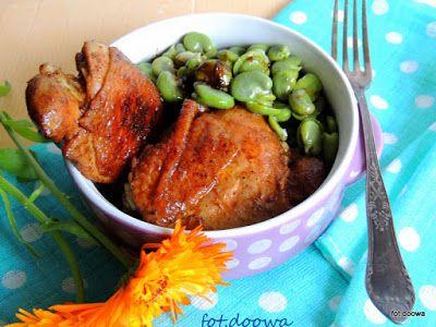 Moje Małe Czarowanie: Kurczak w sosie z bobem