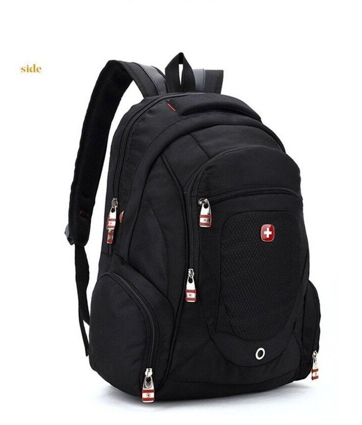 Swissgear Unisex Backpack School Student Laptop Bag Nylon Travel Hiking black