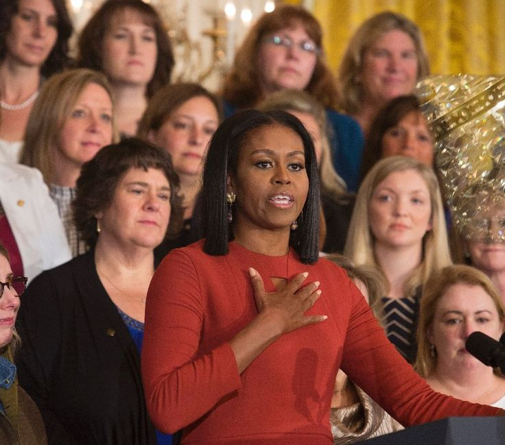 """Michelle Obama urged young Americans not to fear the future but fight for it, delivering an emotive farewell speech Friday in which she said being First Lady was the greatest honor of her life.  """"For all the young people in this room and those who are watching, know that this country belongs to"""