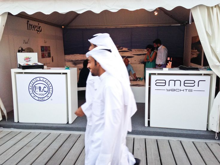 Amer Yachts co-branding with F.lli Razeto e Casareto - our booth -