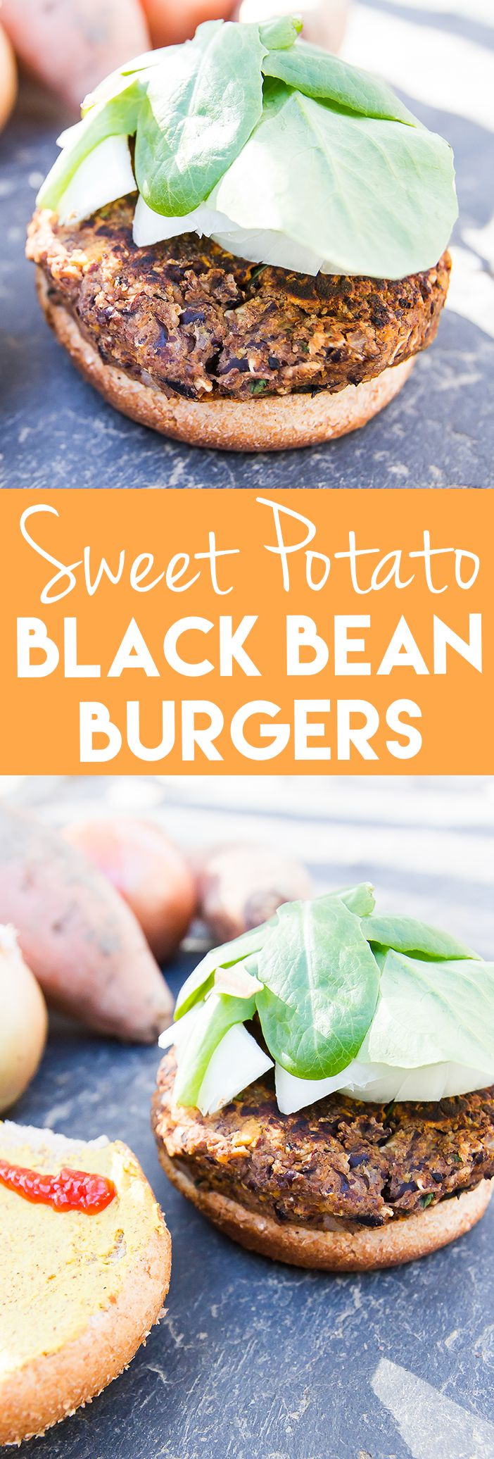 A tasty spin on regular black bean burgers. This version is made with sweet potatoes, oats and flax so they're gluten-free and vegan. They're loaded with flavor and hold together well!