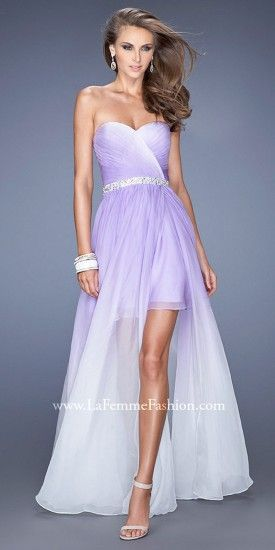 Wear this sexy dress to prom with its short opaque skirt and long sheer overlay.......Price - $398.00 - F0ERbt1e