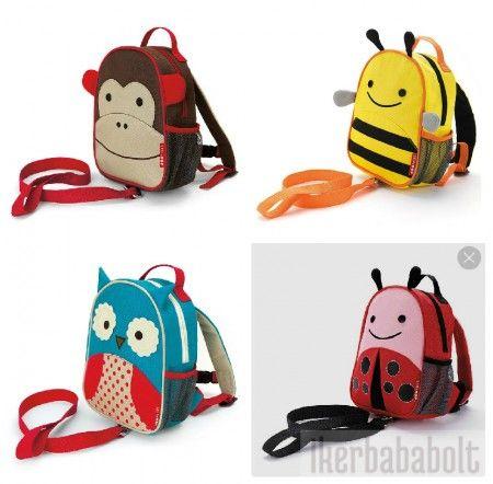 """ZOO hátizsák """"pórázzal"""", többféle mintával ❤"""