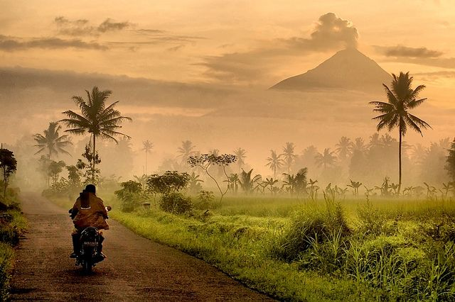 Mount Merapi - Java, Indonesia. Always the looming volcanos.