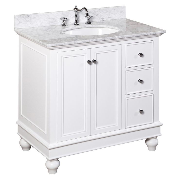 Solid Wood Throughout; Comes With Carrera Top And Undermount Sink And  Backsplash (