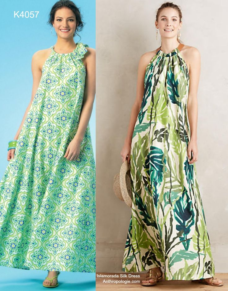 Sew the Look: The easiest, comfiest and chicest maxi dress pattern. Kwik Sew K4057 halter maxi.