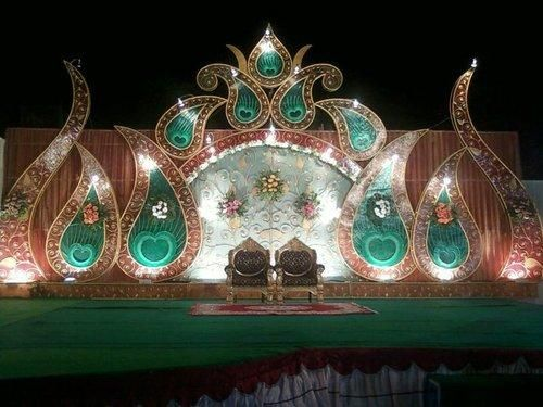 wedding hall stage decoration