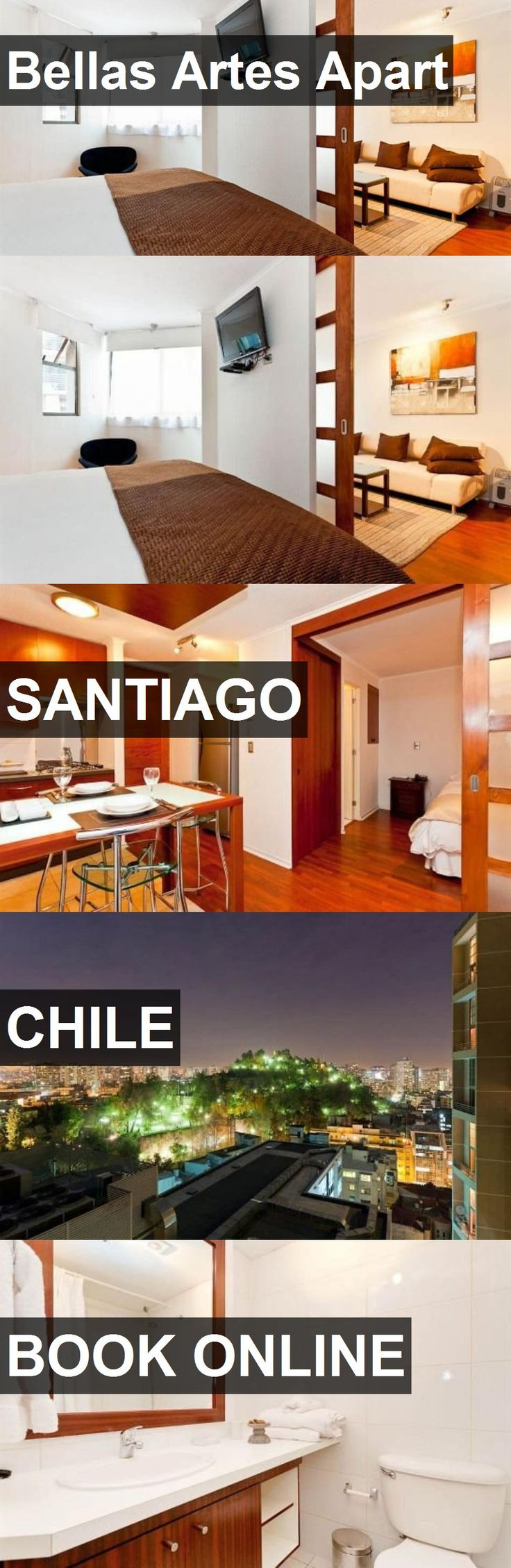 Hotel Bellas Artes Apart in Santiago, Chile. For more information, photos, reviews and best prices please follow the link. #Chile #Santiago #travel #vacation #hotel