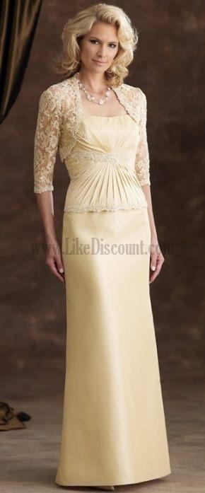 Cheap Mother Groom Dresses | Custom Mother Of Groom Dresses Column Cascading Ruffle For Cheap ...