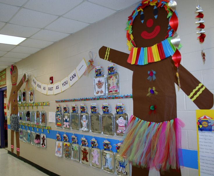 Classroom Decoration Ideas For Primary School : Classroom gingerbread man hallway decoration