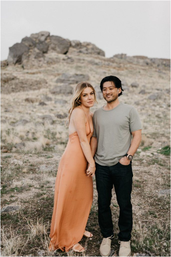 Jordan + John | wedding engagements, engagement ideas, desert photos, engagement dress, intimate photos