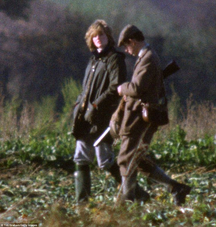 Diana accompanies Charles shooting at Sandringham. It is November 1981, four months after their wedding and Diana is newly pregnant