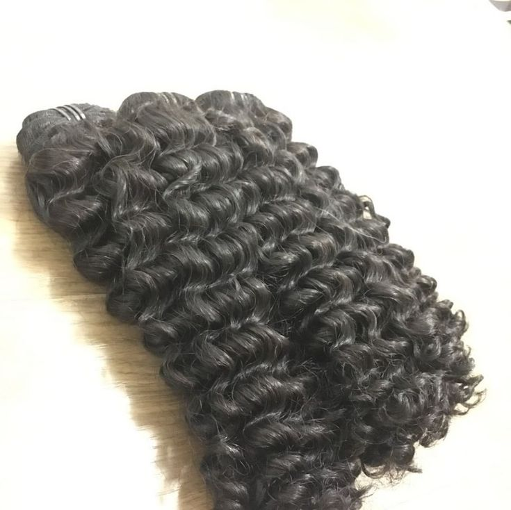 Double weft curly hair natural black 16″ – medium …