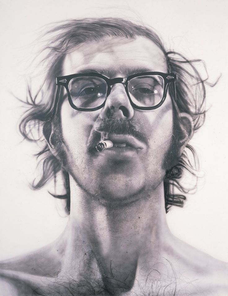 chuck close. self-portrait. one of my favorite paintings ever.