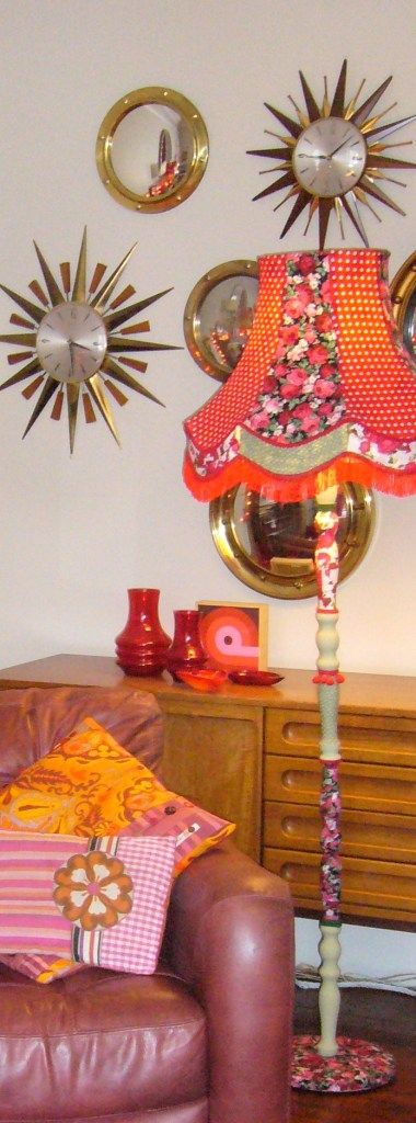 Up-cycled standard lamp by clarabella, my lamps are a bespoke item and made to order www.clarabellachristie.co.uk