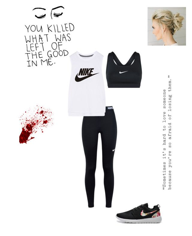 """Kenny (man vs. society??{Or man??})"" by weird-isawesome ❤ liked on Polyvore featuring NIKE and Love Quotes Scarves"