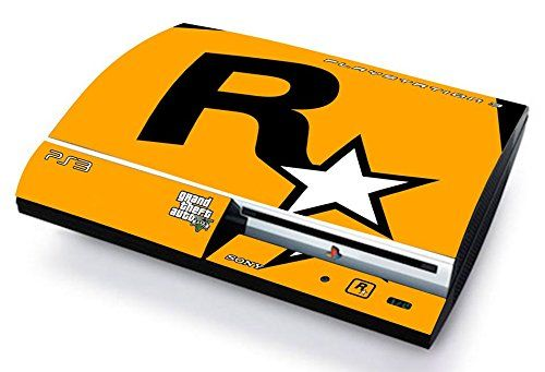 GTA V GRAND THEF AUTO 5 ROCKSTAR GAMES LOGO Skin Cover PS3 FAT HD limited edition DECAL COVER ADESIVA STICKER Playstation 3