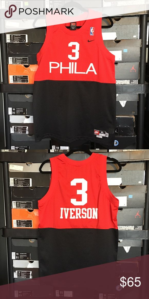 Nike Philadelphia 76ers Allen Iverson Jersey Nike Philadelphia 76ers Allen Iverson Jersey. Kids size Extra Large. Excellent condition. Nike Shirts & Tops Tank Tops