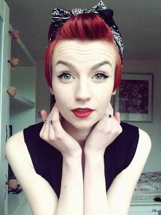 cabelo curto vermelho - Pesquisa Google