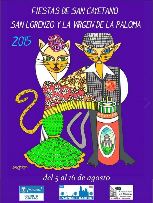 Fiestas San Cayetano, San Lorenzo y Virgen de la Paloma http://www.fiestas-de-madrid.com