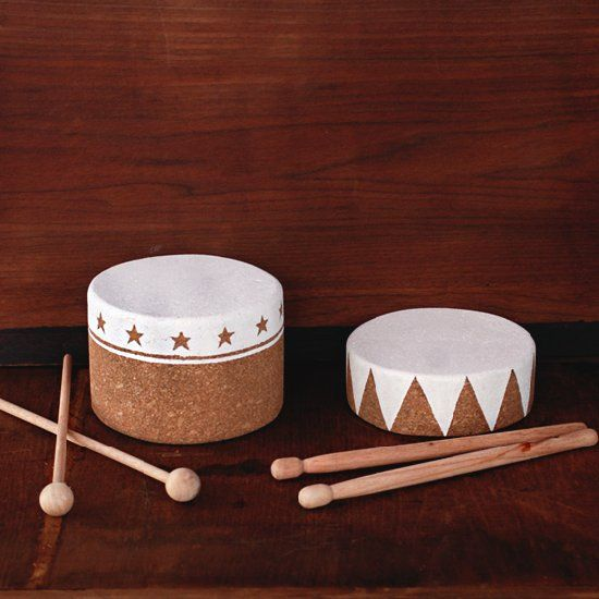 Cork Drums Musical Instrument Crafts for Kids