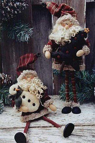 Coisinhas de Pano: Papai Noel-molde