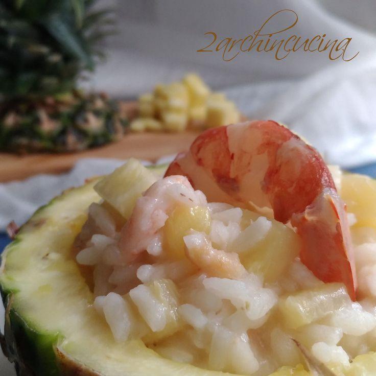 #Risotto #ananas e #gamberi: sapore fresco e gusto esotico.
