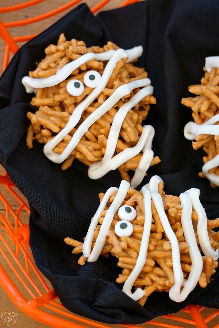 mummy haystacks halloween dessertshalloween partieshalloween - Halloween Desserts For Parties