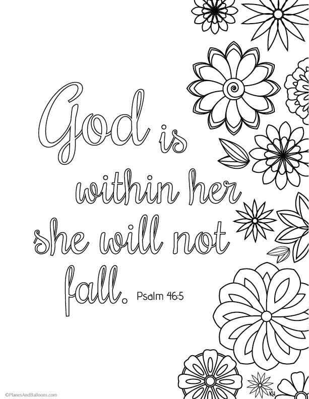 Bible verse coloring pages that