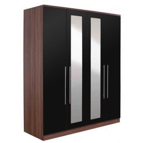 Modular 4 Door Wardrobe with Mirror – Next Day Delivery Modular 4 Door Wardrobe with Mirror from WorldStores: Everything For The Home