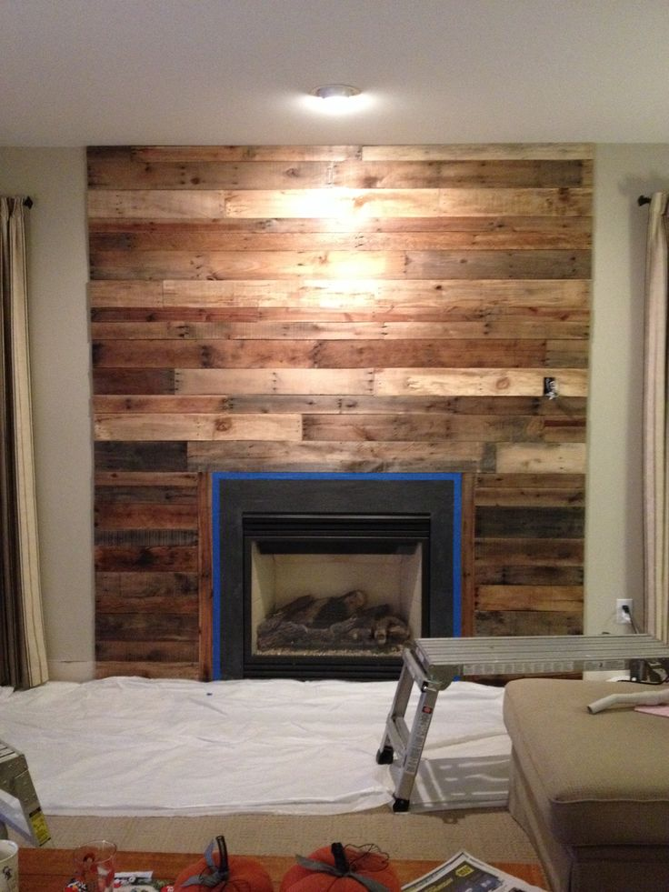 9 Best Pallet Fireplace Images On Pinterest Fireplace