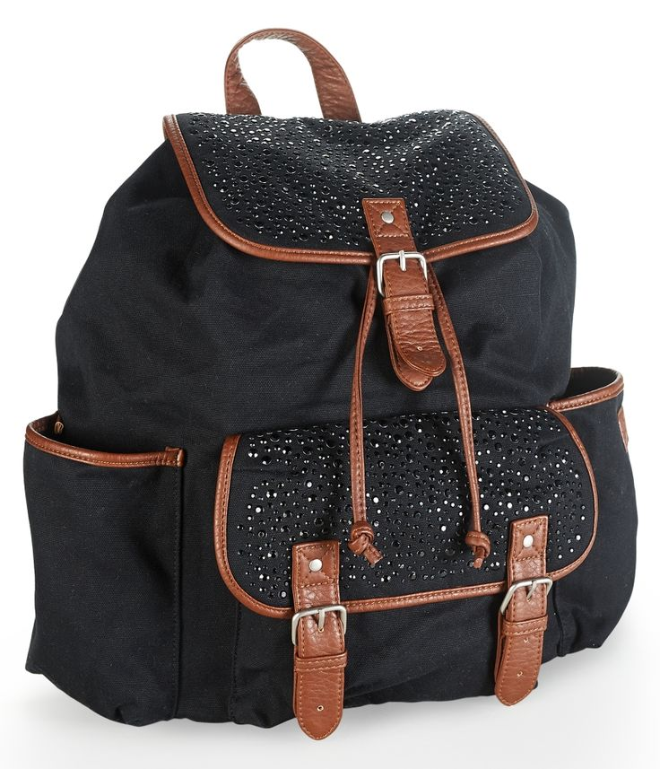 Sequin-Studded Canvas Backpack from Aeropostale