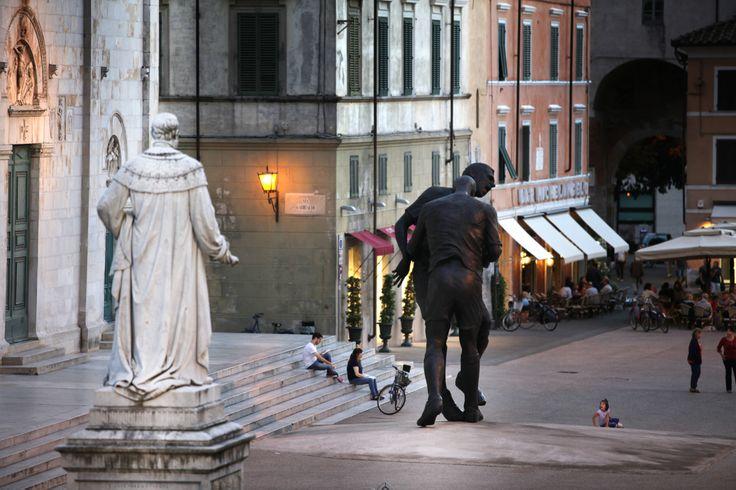Coup de tête by Adel Abdessemed, Pietrasanta, Italy