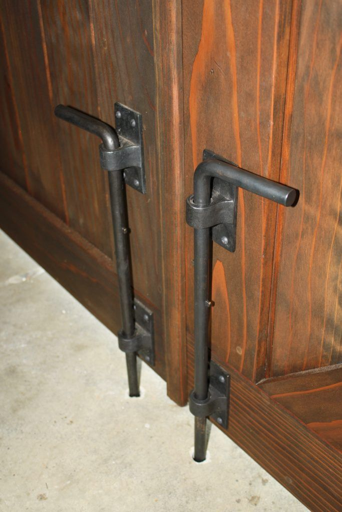 Dark Bronze 20 Cane Bolt With Images Gate Hardware Barn Door
