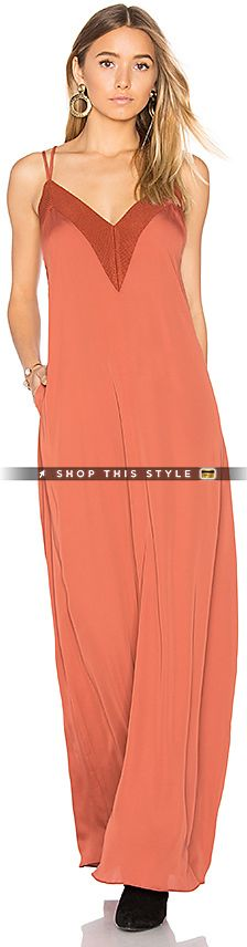 House of Harlow 1960 x REVOLVE Michelle Maxi in Rust. - size M (also in S,XS) House of Harlow 1960 x REVOLVE Michelle Maxi in Rust. - size M (also in S,XS) 100% poly. Hand wash cold. Unlined. Rib knit trim. HOOF-WD37. HHH16DR6. Launched in 2009, the House of Harlow 1960 collection was born from creator Nicole Richie's fascination with creating fashion for the purpose of self-expression. From the beginning, Richie has been the creative force behind the brand, determined to translate her..