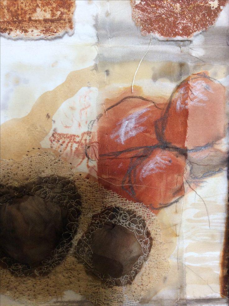 Jo Roszkowski, detail, mixed media work