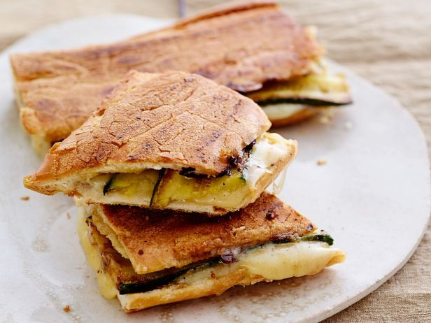 Hearty Vegetarian Zucchini Paninis would be a perfect option at a backyard barbecue.