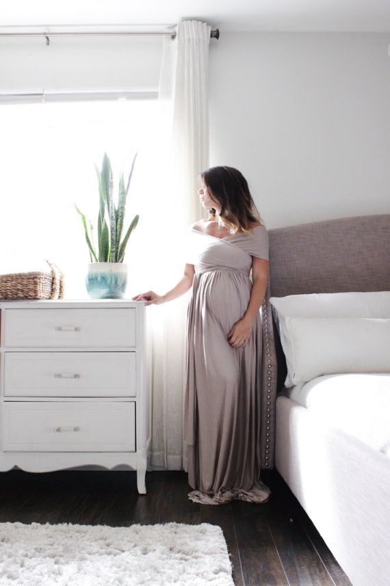 Maternity gown long infinity maternity dress the wrap by EmbieBaby