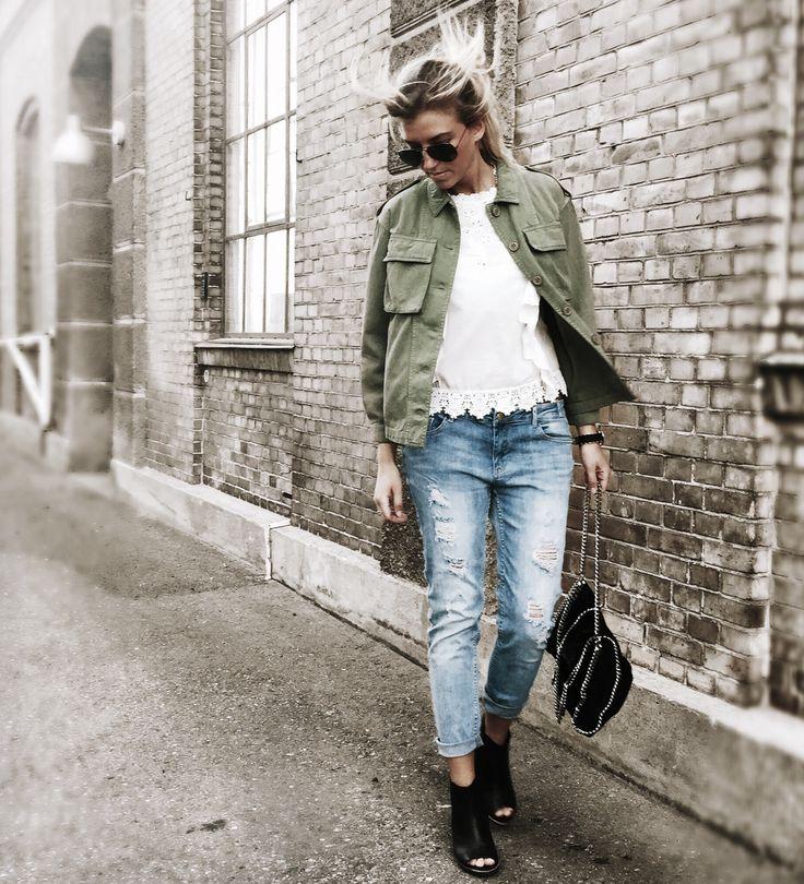 // greymatter.dk - Army stylish - Jeans - white lace