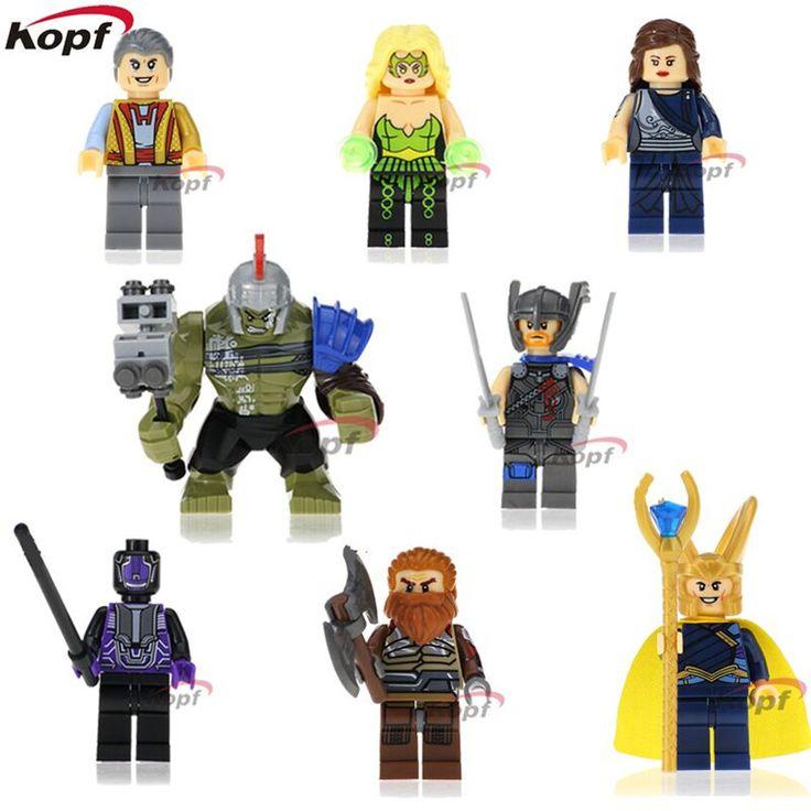 Thor Amora Jane Foster Hulk Volstagg Loki Sakaarian Guard Grandmaster Building Blocks Super Heroes Model Toys for children X0165 #Affiliate