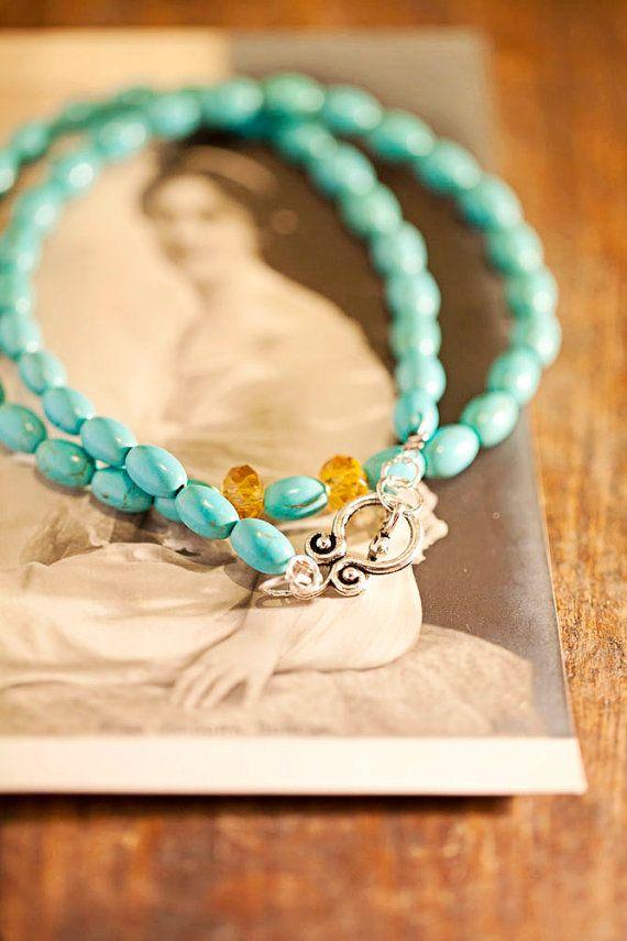 Turquoise Necklace: Turquoise Necklaces, Turquoi Necklaces, Wraps Bracelets, Aqua Teal Turquoi, Accessories Bl, Turquoise Bracelets, Beads Adorn, Turquoi Bracelets, Amazing Jewelry