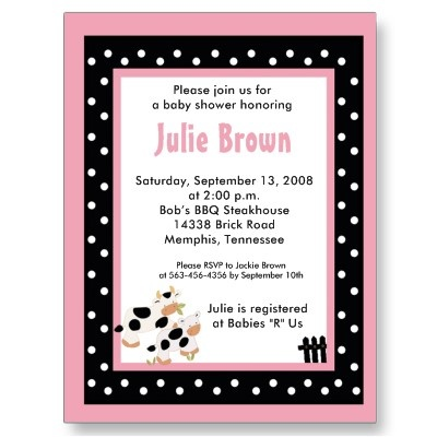 Cute invitation - $.98 per postcard