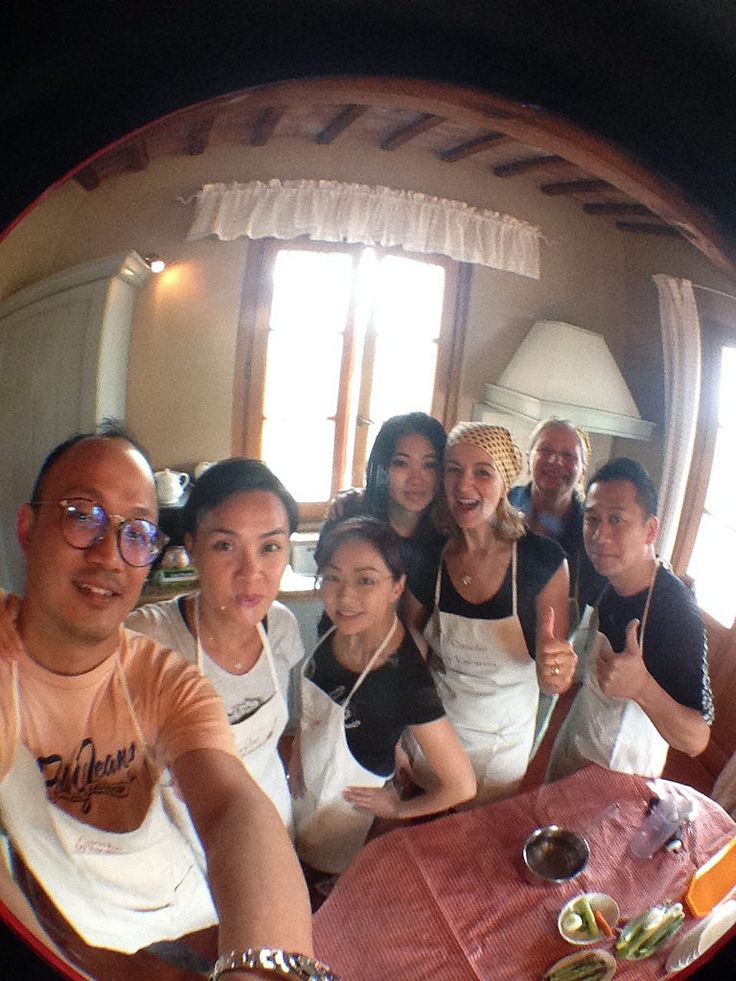 Cookery course with friends from Hong Kong!