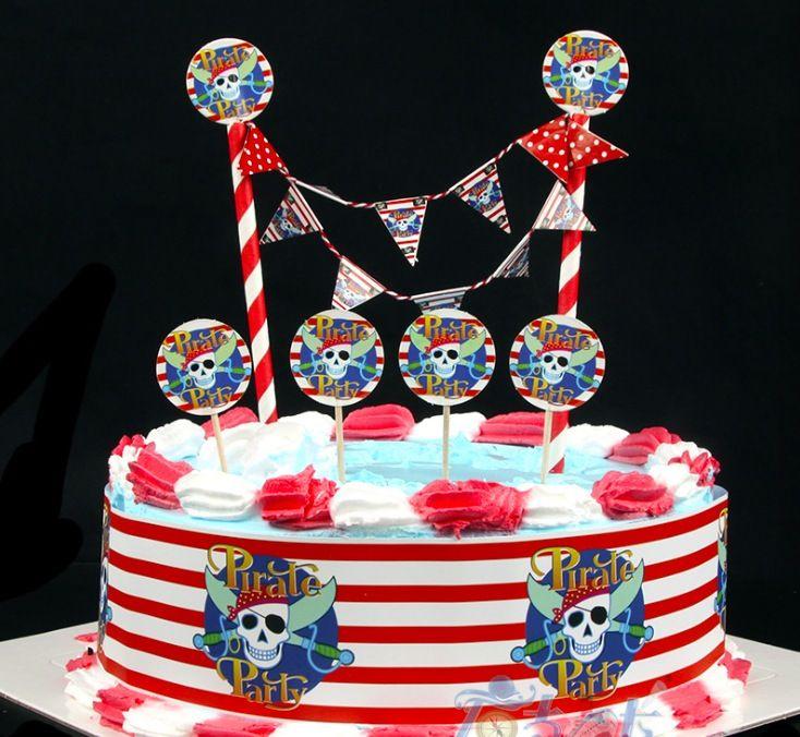Пират поставки малыш поставщиков на день рождения ребенок вечер ну вечеринку комплект украшения празднование баннер флаг обертка купить на AliExpress