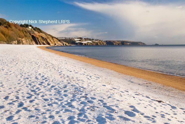Snow on Slapton Sands